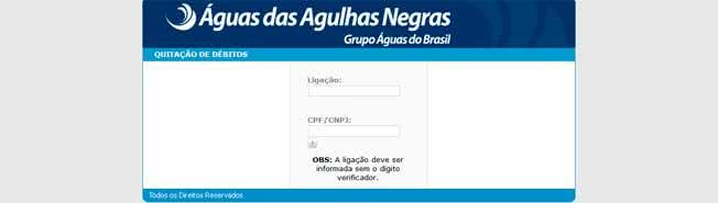 2ª Via FATURA E BOLETO ÁGUAS DAS AGULHAS NEGRA COMO SOLICITAR