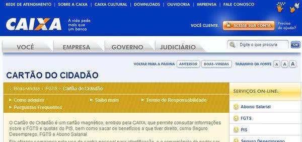 2ª Via CARTÃO CIDADÃO FGTS PIS SEGURO DESEMPREGO COMO SOLICITAR ONLINE OU POR TELEFONE