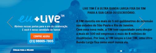 2ª Via FATURA E BOLETO E PLANOS LIVE TIM - PLANOS LIVE TIM DIFERENCIADO