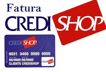 2ª Via FATURA BOLETO E CARTÃO CREDSHOP ACESSO ONLINE