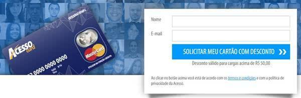 2ª Via FATURA BOLETO E CARTÃO ACESSO CARD ACESSE OU LIGUE