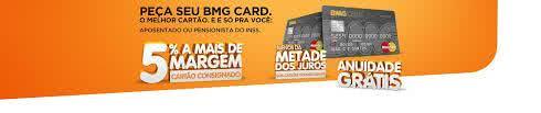 2ª Via FATURA CARTÃO BMG CALCARD CADASTRO RÁPIDO ONLINE